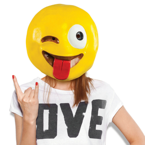 crazy wink with tongue emoji mask gaggifts com