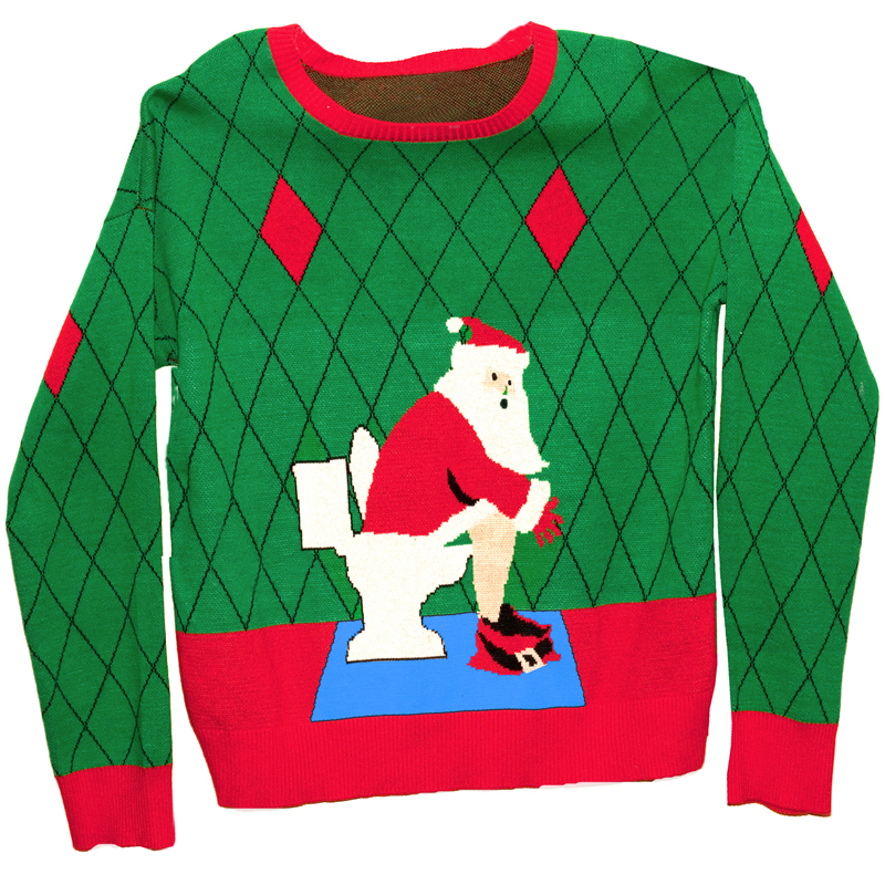 Ugly Christmas Sweater in a Box  Toilet SantaUgly Christmas Sweaters Clipart