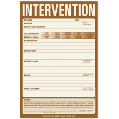 Prank Intervention Notepad