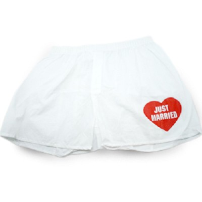 'Just Married' Men's Boxers