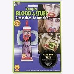 Vampire Teeth, Blood, and Skin Makeup Kit