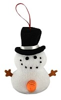 Naughty Snowman Ornaments