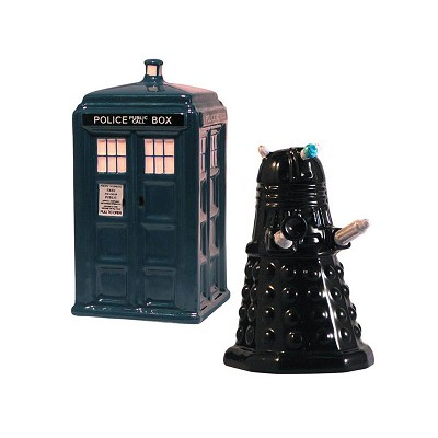 Tardis Vs. Dalek Salt and Pepper Shaker
