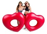 Giant Two of Hearts Pool Floats