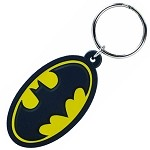 Batman Logo Color PVC Keychain