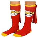 Big Bang Theory Bazinga Red Cape Socks