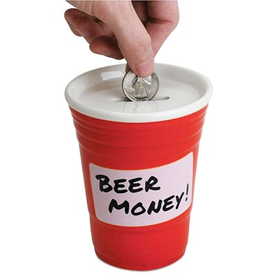 Red Cup Beer Money Coin Bank