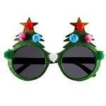 Tacky Christmas Tree Glasses