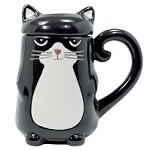 Cat with Lid Mug