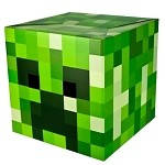 Minecraft: Creeper Box Head Mask
