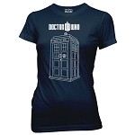 Doctor Who: Vector Tardis Junior Shirt Small