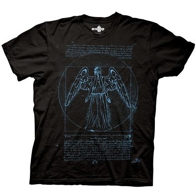 Doctor Who: Vitruvian Weeping Angel T-Shirt
