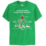 Elf Movie, 4 Food Groups Youth T-Shirt