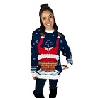Gassy Santa Sound Button Ugly Christmas Sweater