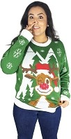 Light Up, Ugly Christmas Sweater: Hello Deer