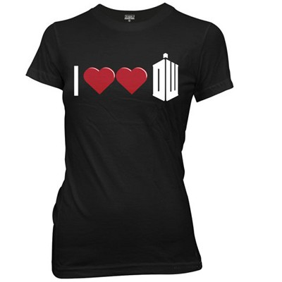 I Double Heart Doctor Who Junior T-Shirt