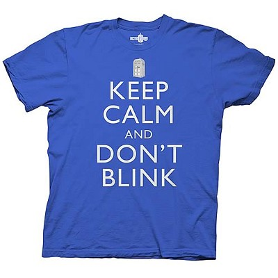 Doctor Who: Keep Calm and Don't Blink T-Shirt