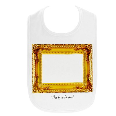 Little Spills Bib: The Goo Period Gold Frame