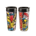 Marvel Wolverine 16 oz. Plastic Travel Mug