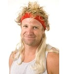 Instant Mullet w/ Headband: Widow Maker