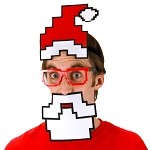 Pixel Santa Costume Kit