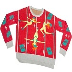 Ugly Christmas Sweater in a Box: Pole Dancing Elves