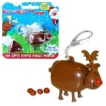 Pooping Reindeer Candy Keychain