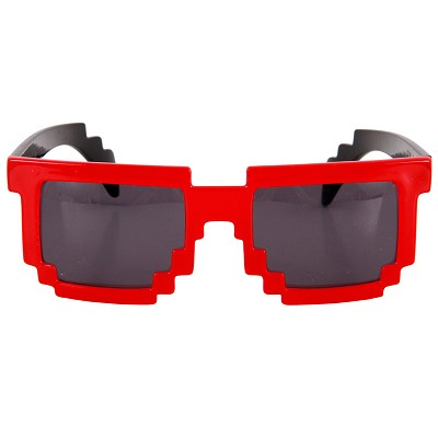 8-Bit Pixel Glasses: Red