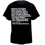 Rock, Paper, Scissors, Lizard, Spock T-Shirt, Black