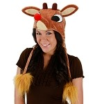Rudolph Light-Up Hoodie Hat