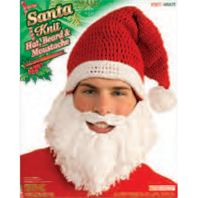 Santa Knit Hat & Beard
