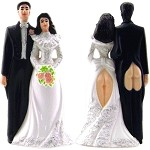 Sexy Butts Wedding Cake Topper
