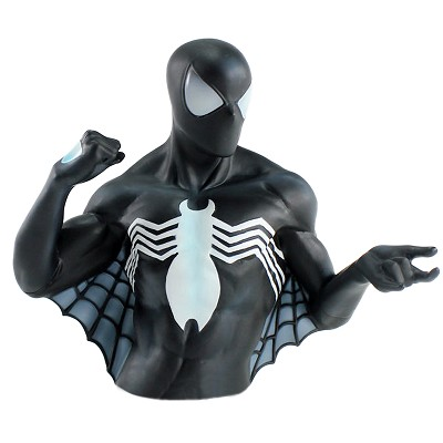 Spiderman, Black Suit Bust Coin Bank