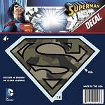 Superman Logo Car Decal, Camo 1