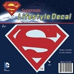 Superman Logo Car Decal, Red