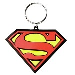 Superman Logo Color PVC Keychain