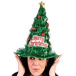 Christmas Tree Tinsel Hat