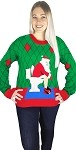 Ugly Christmas Sweater: Toilet Santa