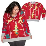 Ugly Christmas Sweater: Pole Dancing Elves